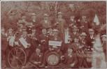 AK Foto Berlin Herrenpartie Gruppenfoto Männer Von Mutter' n frei ! 1909