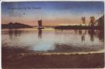 AK Berlin Morgenstimmung bei Treptow See mit Boot 1920