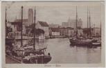 AK Wismar Blick in Hafen mit Segelschiff Auguste 1926