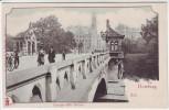 AK Hamburg Kersten-Mils Brücke mit Menschen 1900
