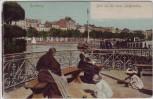 AK Hamburg Blick auf den neuen Jungfernstieg Frauen Kinder 1912