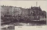 AK Hamburg Am Jungfernstieg mit Hotel zum Kronprinzen 1910
