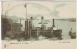 AK Hamburg an der Elbe St. Pauli Hafen mit Dampfer 1900