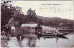 AK Maria Laach Uferpartie Boot Menschen Fahrrad bei Glees Mendig 1911