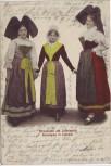 AK Elsässerinnen und Lothringerin Frauen in Tracht Frankreich 1904