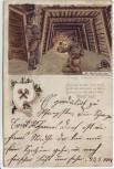 AK Litho Glück auf ! Der Markscheider Stollen Bergbau Gedicht Verlag Ullmann Zwickau 1901 RAR