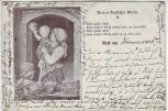 Künstler-AK Gruß aus ... Perlen Deutscher Poesie Frau mit Kind Dessin 304 1899