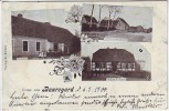 AK Gruss aus Bauregard Beauregard Altwriezen Wriezen Schule Kaufhaus Dorfstrasse 1900 RAR