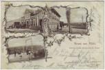 AK Gruss aus Kölln Etablissement Waldesruh H. Meyn bei Elmshorn 1900 RAR