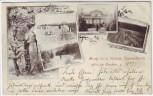 AK Gruß aus den Köllner Baumschulen Kölln bei Elmshorn 1899 RAR