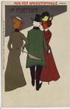 Künstler-AK Aus der Großstadthölle Im Fegefeuer 2 Damen mit Mann Verlag Bürger u. Ottillie No. 6638 1910