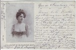 Künstler-AK Gruss aus ... Freundschaft ist das kostbarste Juwel Frau mit Dekolleté 1900