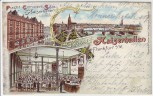 AK Litho Frankfurt am Main Grüsse aus den Kaiserhallen 1899 RAR