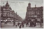 AK Frankfurt am Main Kaiserstrasse viele Menschen Geschäfte 1918
