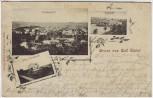 AK Gruss aus Bad Elster Totale Bahnhof Villa Carolaruh 1900