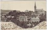 AK Bad Elster Ortsansicht Hotel Rheingold mit Kirche 1905