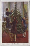 Künstler-AK O. Herrfurth Der Tannenbaum beim Schmücken Uvachrom Nr. 4512 1920