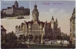AK Leipzig Neues Rathaus Pleissenburg 1920