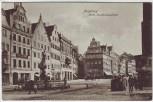 AK Augsburg Mittlere Maximilianstraße mit Hotel Merkur 1910