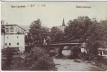 AK Bad Landeck Lądek-Zdrój Biele-Schloss mit Brücke Schlesien Polen 1908
