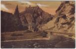 AK Altenahr Blick auf Burg Are mit Brücke 1910