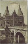 AK Lübeck Partie beim Holstentor 1908