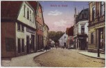 AK Bünde in Westfalen Straßenansicht mit Geschäften 1920