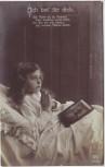 AK Foto Ich bet' für dich Kind mit Bild Vater Soldat Feldpost 1916