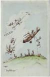 Künstler-AK Jagdflieger Trautloft Serie Flieger-Humor Feldpost 1939