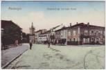 AK Morhange Mörchingen Klapperstraße mit kath. Kirche Lothringen Frankreich Feldpost 1914
