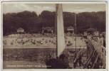 AK Ostseebad Göhren auf Rügen Seebrücke mit Segelboot 1934