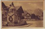 AK Garmisch-Partenkirchen Marktplatz mit Brunnen 1930