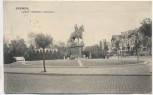 AK Bremen Kaiser Friedrich-Denkmal mit Straßenansicht 1906
