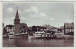 AK Lindau im Bodensee Ortsansicht Hafen Schiffe 1935