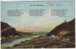 AK Die Porta Westfalica mit Weserlied 1911