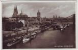 AK Foto Köln am Rhein Am Leystapel viele Schiffe 1937