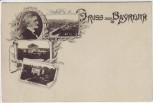AK Gruss aus Bayreuth Richard Wagner Theater 1900