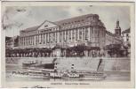 AK Koblenz Grand-Hotel Bellevue mit Dampfer 1913