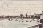 AK Ostseebad Ahlbeck Strandpartie mit Schiffen 1904