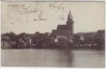 AK Waren an der Müritz Ortsansicht mit Kirche 1913