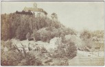 AK Foto Schönfels Ortsansicht mit Burg bei Lichtentanne 1907