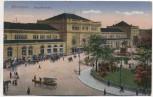 AK Hannover Hauptbahnhof mit Pferdekutschen 1920