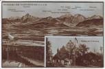 AK Panorama vom Taubenberg mit Blockhaus 895 m bei Warngau Oberbayern 1928