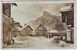 AK Foto Oberammergau Hauptplatz mit Kofel im Winter 1942