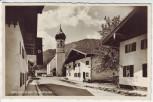 AK Foto Unterammergau Hauptstrasse mit Fahnen 1940 RAR