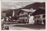 AK Foto Unterammergau Hauptstraße mit Gasthof zur Post 1938 RAR