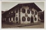 AK Foto Unterammergau Bemaltes Bauernhaus 1940 RAR