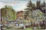 AK Höllriegelskreuth Gasthaus zum Forsthaus Station der Isartalbahn 1912