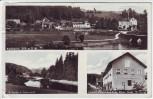 AK Mehrbild Kalteneck (Hutthurm) Ortsansicht Gemischtwarenhandlung Ilz-Partie 1940