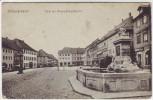 AK Hildburghausen Markt mit Herzog-Georg-Brunnen Feldpost 1917